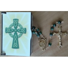 Rosary, Celtic Cross Rosary Box and Rosary