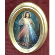 Picture, Divine Mercy Oval Frame