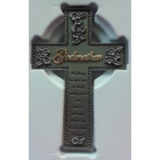 Cross, Pewter GODMOTHER Cross