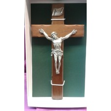 "Crucifix, Wooden Cross, 8""H"