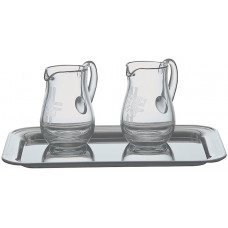 Cruet Engraved Crystal #1262, Tray available