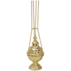 Censer & Boat, Polished Brass