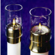 "Draft Protector, Glass 1 1/2"" for Candle Shells"