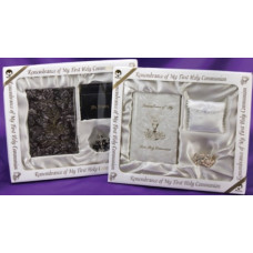 Communion Marion Missal and Rosary Premier Boxed Set, White
