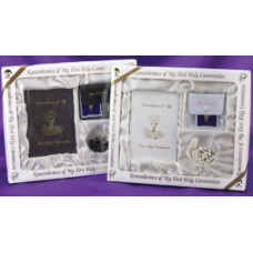Communion Marion Missal and Rosary Boxed Set in black