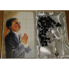 Communion Rosary & Prayer card