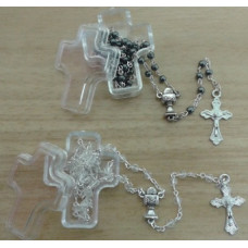 Communion Rosary in a Cross Case