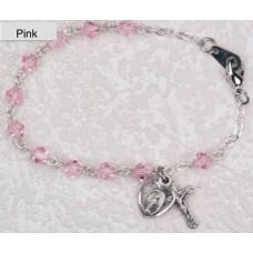 Bracelet, Swarovski Pink Crystal Rosary Bracelet