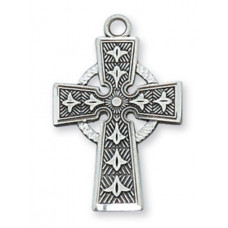 Celtic Cross, Sterling Silver with Chain