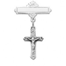 Crucifix Pin, Sterling Silver