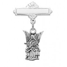 Guardian Angel Pin, Sterling Silver