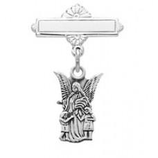 Guardian Angel Pin, Sterling Silver