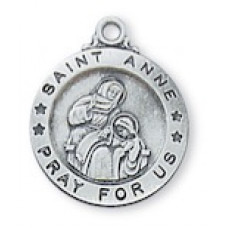 Saint Anne, Sterling Silver Round