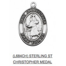 Saint Christopher Medal with Chain
