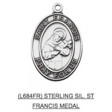 Saint Francis Medal with Chain