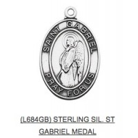 Saint Gabriel Medal with Chain