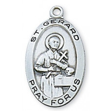 Saint Gerard Sterling Silver Oval