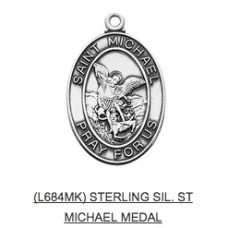 Saint Michael Medal with Chain