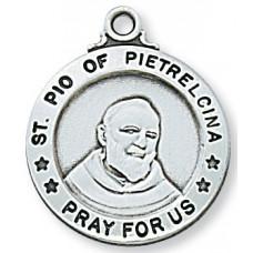Saint Padre Pio, Sterling Silver Round