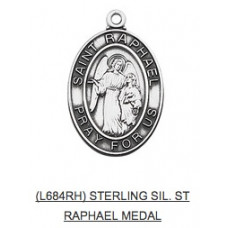 Saint Raphael Medal with Chain