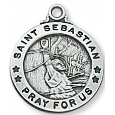 Saint Sebastian, Sterling Silver Round