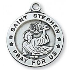 Saint Stephen, Sterling Silver Round