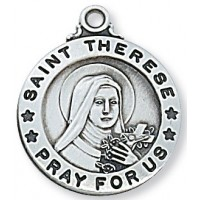 Saint Theresa, Sterling Silver Round