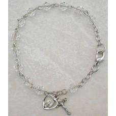 Bracelet, Swarovski Crystal Rosary Bracelet