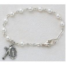 Bracelet, Swarovski Baby Pearl Rosary Bracelet,