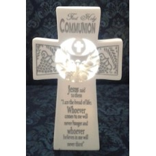 Cross, Communion Standing Lighted Wall Cross