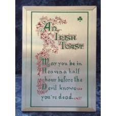 Plaque, An Irish Toast