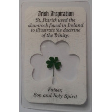 Laminated Card, Irish Inspiration from St. Patrick