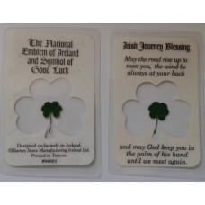 Laminated Card, Irish Journey Blessing