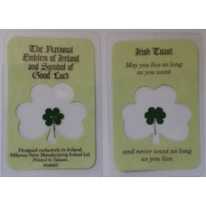 Laminated Card, Irish Toast