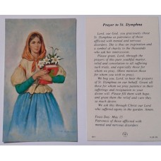 Prayer Card, St. Dymphna, set of 20