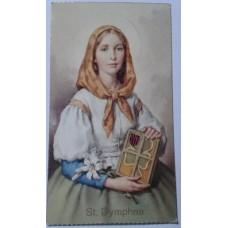 Saint Card, St. Dymphna, set of 25