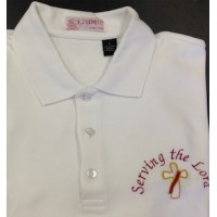 "Deacon Polo / Golf  Shirt ""Serving the Lord"""