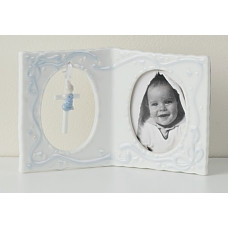 Baptism Frame with Cross