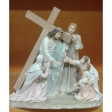50% OFF Statue, Jesus Carrying the Cross, The Way of Suffering, Galleria Devina