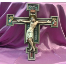 "Crucifix, Wooden Picture Cross, 10""H"