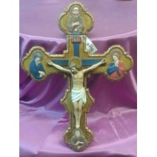 "Crucifix, with Saints 14""H"