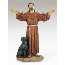 Statue, St. Francis with open arms, 20""