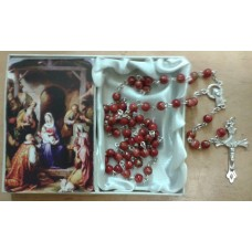 Rosary, Christmas Rosary and Prayer Card
