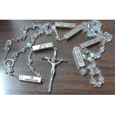 Rosary, Chrystal Rosary with Mysteries