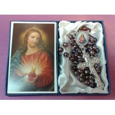 Rosary, Sacred Heart of Jesus Rosary and Prayer Card