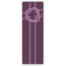 Church Banner, Lent, Crown of Thorns