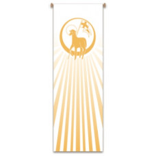 Church Banner, Lamb of God with Halo