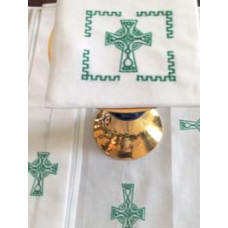 Altar Linen, Celtic Cross Mass Linen Set #348