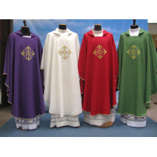 Vestment, Chasuble Embroidered Filigree Cross