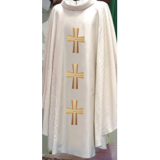 Vestment, Chasuble, Three Embroidered Crosses